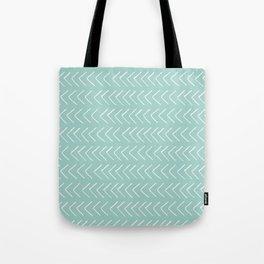 Hand painted pastel green white geometrical chevron Tote Bag