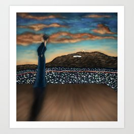 On Sunset at Sunset (Hollywood Sign) Art Print