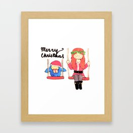 Christmas Swings Framed Art Print