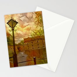 Old fort in the city of Kaliningrad Stationery Cards
