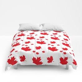 Canada Maple Leaf-Large-White Comforters