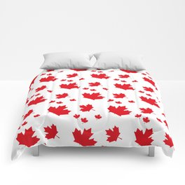 Canada Maple Leaf-Large-White Comforters