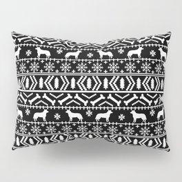 Australian Cattle Dog christmas fair isle pattern pet portrait holiday designs for dog lover Pillow Sham