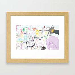Simultaneous Framed Art Print