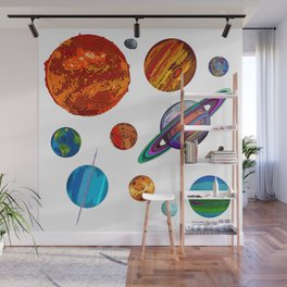 The Planets of the Solar System Wall Mural