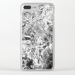 Frozen Disarray Clear iPhone Case