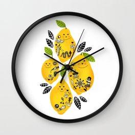 Tattooed Lemons Wall Clock