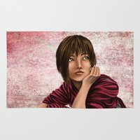 chihiro Area & Throw Rugs featuring Chihiro from Spirited Away 2 by Kimberly Castello