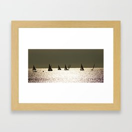 Sailboats at Dusk Framed Art Print