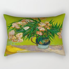 Oleanders Vincent van Gogh Oil On Canvas Floral Still Life Painting Rectangular Pillow