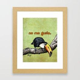 No Me Gusta Toucan- Sassy Bird Framed Art Print