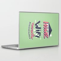 risa rodil Laptop & iPad Skins featuring Home Wifi by Risa Rodil