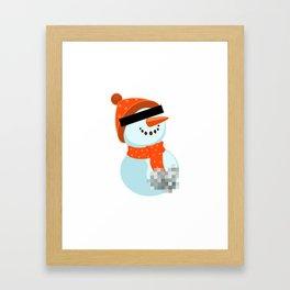 Dirty snowman Framed Art Print