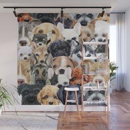 Dog All start, Dog illustration original painting print Wall Mural