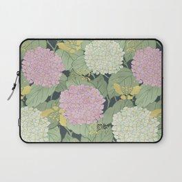 Hydrangeas and Butterflies - Such A Perfect Summer Day Laptop Sleeve