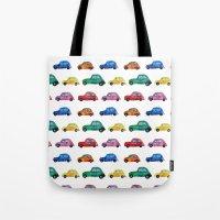 italian Tote Bags featuring Italian cars  by Katerina Izotova Art Lab