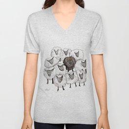 Always be the black sheep Unisex V-Neck