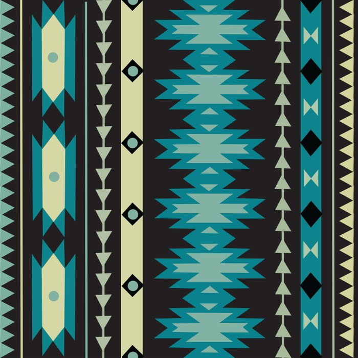 American Native Pattern No. 183 Duvet Cover