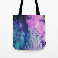 ahs Tote Bags featuring AHS Violet by Connor Caldwell