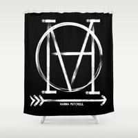 logo Shower Curtains featuring LOGO by hannamitchell