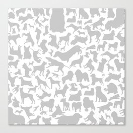 Dog a background Canvas Print
