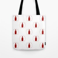 true blood Tote Bags featuring Badge inspired by True Blood by Purshue feat Sci Fi Dude