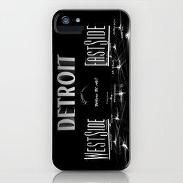 Detroit - Eastside/Westside - Where U at? iPhone Case