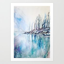 The other side of the mountain Art Print