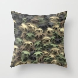 Sloth camouflage Throw Pillow