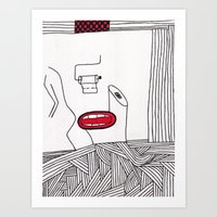 toilet Art Prints featuring toilet by DAMlab
