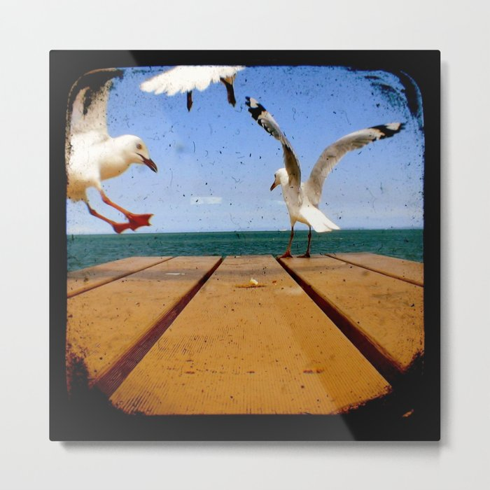 Seagulls - Number 3 from set of 4 Metal Print