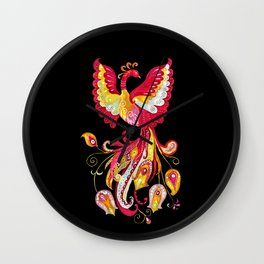 Firebird - Fantasy Creature Wall Clock