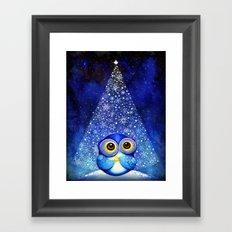 Owl Christmas Tree  Framed Art Print