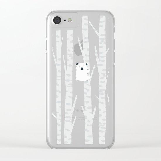 Lonesome Koala Clear iPhone Case