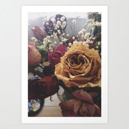 Wilted Flowers Art Print