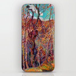 Franklin Carmichael - Silvery Tangle - Canada, Canadian Watercolor Painting - Group of Seven iPhone Skin