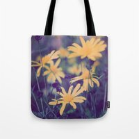 woodstock Tote Bags featuring Woodstock Daisy  by Scotty Photography