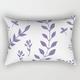 Ultra Violet Leaves Pattern #1 #drawing #decor #art #society6 Rectangular Pillow