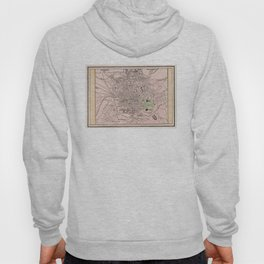 Vintage Map of Athens Greece (1901) Hoody