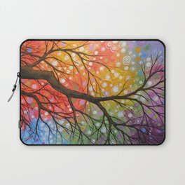 Abstract Art Landscape Original Painting ... Bursting Sky Laptop Sleeve