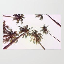 Palm Trees And Pink Sky Rug