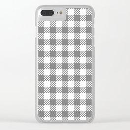 Grey Vichy Clear iPhone Case