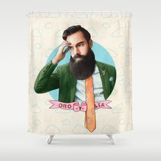 Mr. Montana Shower Curtain