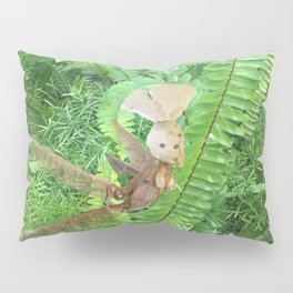 She Flies Around in the Spring Ferns Pillow Sham