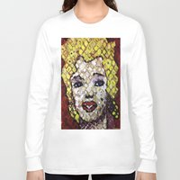 marylin monroe Long Sleeve T-shirts featuring MARYLIN MONROE by JANUARY FROST