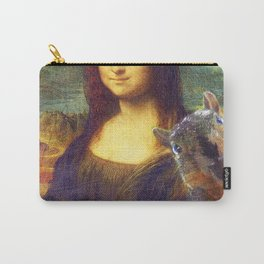 Mona Lisa Squirrel Photo Bomb Pop Art Carry-All Pouch