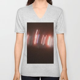 Abstracte Light Art in the Dark Version 32 Unisex V-Neck