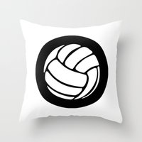 volleyball Throw Pillows featuring Volleyball Ideology by ideology