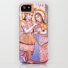 Hare Krishna Love iPhone Case
