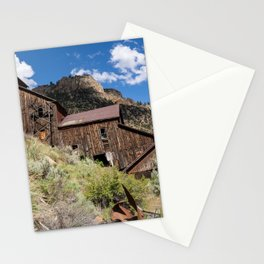 Old mill in Bayhorse Idaho, a ghost town Stationery Cards